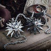 Украшения handmade. Livemaster - original item The Spook`s big medallion. Pendant wolf. The Witcher silver silver. Handmade.