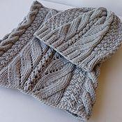 Аксессуары ручной работы. Ярмарка Мастеров - ручная работа Вязаный комплект Gray шапка и шарф снуд. Handmade.