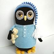 Куклы и игрушки ручной работы. Ярмарка Мастеров - ручная работа вязаная игрушка Сова-сплюшка. Handmade.