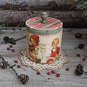 """Для дома и интерьера ручной работы. Ярмарка Мастеров - ручная работа """"Хансель и Гретта""""  Короб деревянный ОЛЬХА. Handmade."""
