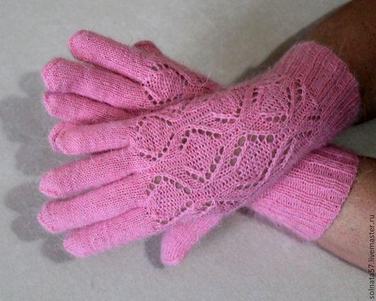 """Варежки, митенки, перчатки ручной работы. Ярмарка Мастеров - ручная работа. Купить Перчатки """"Розовая дымка"""". Handmade. Розовый"""
