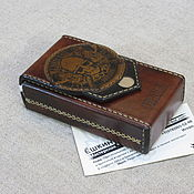 Сувениры и подарки handmade. Livemaster - original item Captain Black Cigar Case. Personalized gift. Barbarian. Handmade.