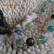 Украшения handmade. Livemaster - original item Fluorite necklace in Wire Wrap technique Tver. Handmade.