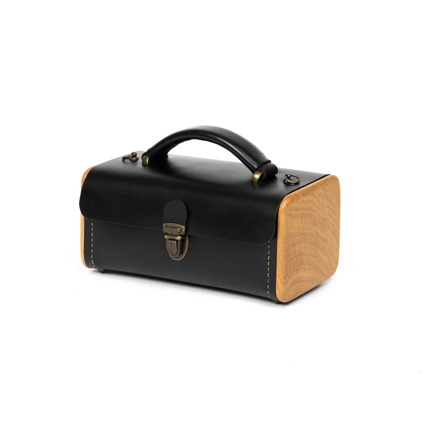 MARKDOWN!!! Black women's handbag - LADIES ' STEP-leather and wood, Classic Bag, Moscow,  Фото №1