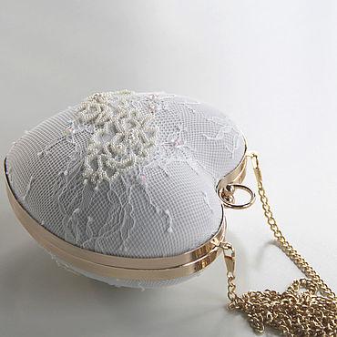 "Сумки и аксессуары ручной работы. Ярмарка Мастеров - ручная работа Свадебная сумочка "" White heart "". Handmade."