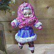 Куклы и игрушки handmade. Livemaster - original item Girl-toy made of cotton wool. Handmade.