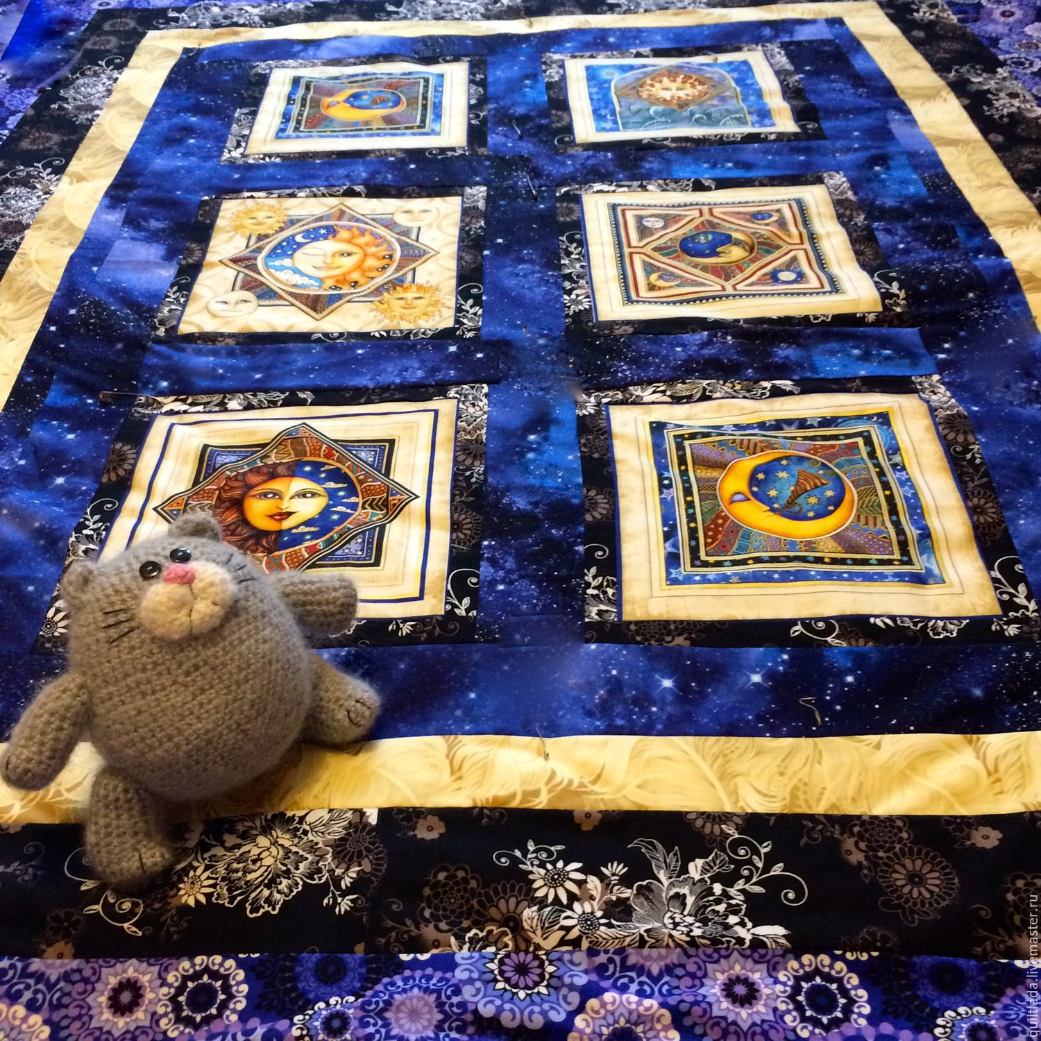 Home Textiles & Carpets handmade. Livemaster - handmade. Buy Patchwork plaid Sun Moon and Stars.Gift, moon