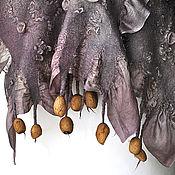 """Аксессуары ручной работы. Ярмарка Мастеров - ручная работа Шарф """"Рассвет"""". Шелк. Шерсть. Нунофелтинг.. Handmade."""