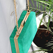 """Классическая сумка ручной работы. Ярмарка Мастеров - ручная работа Сумочка """"Charming green"""". Handmade."""