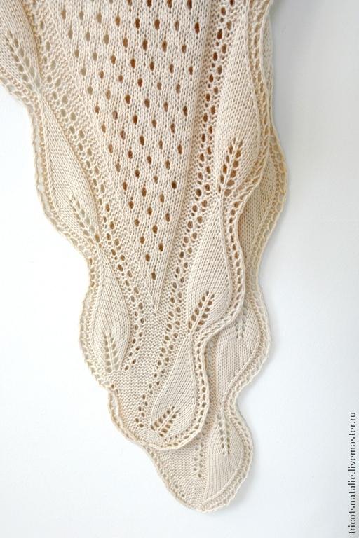 шаль бактус шаль-бактус платок шали вязаная шаль теплая шаль  листья