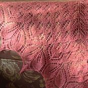 """Шали ручной работы. Ярмарка Мастеров - ручная работа Шаль """"Харуни"""" в коралловом цвете.. Handmade."""