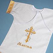 Крестильные рубашки ручной работы. Ярмарка Мастеров - ручная работа Крестильная именная рубашка. Handmade.