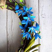 """Подарки к праздникам ручной работы. Ярмарка Мастеров - ручная работа """"Весна.Пролески"""" Венок интерьерный из фоамирана. Handmade."""