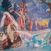 Картины и панно ручной работы. Ярмарка Мастеров - ручная работа картина Чудь и Меря. Handmade.