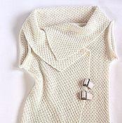 Одежда ручной работы. Ярмарка Мастеров - ручная работа Жилет ассиметричный. Белый. Handmade.