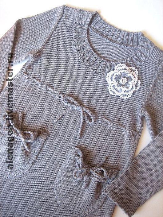 """Одежда для девочек, ручной работы. Ярмарка Мастеров - ручная работа. Купить Платье для девочки """"Магия серого"""". Handmade. Платье для девочки"""