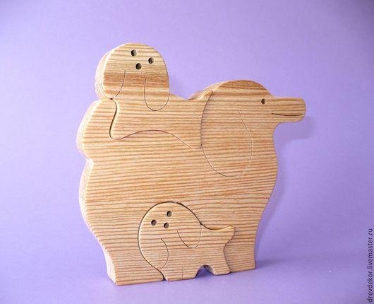 Игрушки животные, ручной работы. Ярмарка Мастеров - ручная работа. Купить пазлы собачки № 5. Handmade. Комбинированный, игрушки