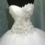 Свадебный салон ручной работы. Ярмарка Мастеров - ручная работа Свадебное платье с эффектом 3D. Handmade.