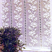 "Для дома и интерьера handmade. Livemaster - original item Curtain for kitchen ""Rose"". Handmade."