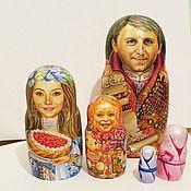 Подарки к праздникам handmade. Livemaster - original item Family portraits nesting dolls matryoshka old russian style. Handmade.