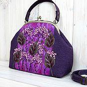 Сумки и аксессуары handmade. Livemaster - original item Bag with clasp WARM EVENING VIOLET. Handmade.