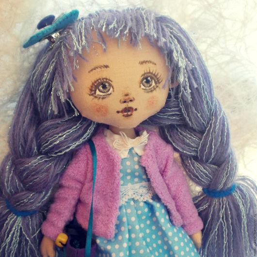 Коллекционные куклы ручной работы. Ярмарка Мастеров - ручная работа. Купить Кукла Лавандовая Девочка, авторская текстильная кукла. Handmade.