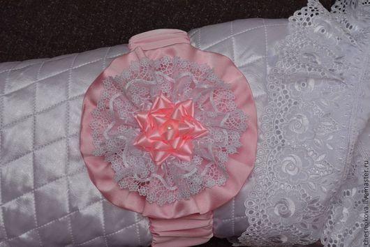 """Для новорожденных, ручной работы. Ярмарка Мастеров - ручная работа. Купить Бант на выписку """"принцесса"""". Handmade. Бледно-розовый"""