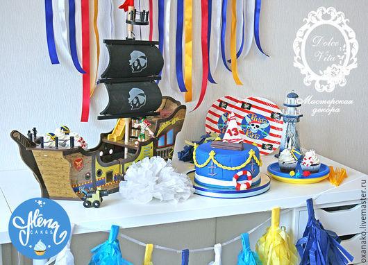 Декор детского праздника в морском пиратском стиле