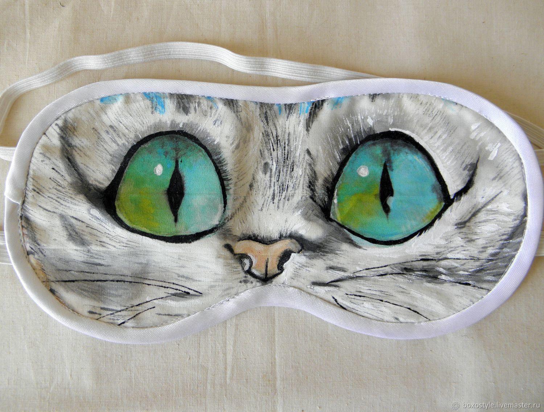 """Белье ручной работы. Ярмарка Мастеров - ручная работа. Купить Маска для сна """"Кошка"""". Handmade. Маска для лица, маска"""