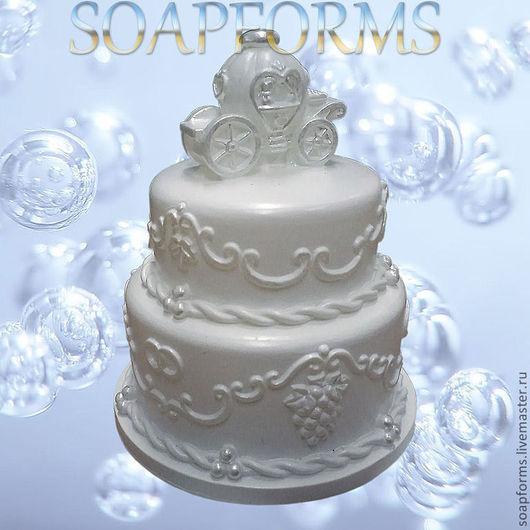 """Силиконовая форма для мыла """"Свадебный тортик"""""""