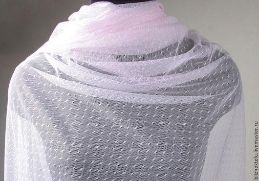 Шитье ручной работы. Ярмарка Мастеров - ручная работа. Купить Вуаль нежно-розовая. Сетка с мушками. Ширина 160 см.. Handmade.