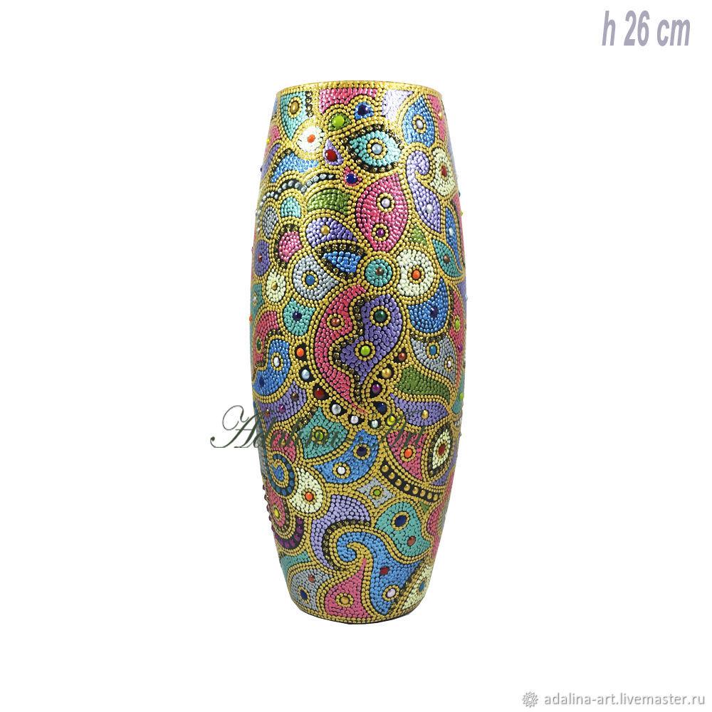 Ваза КАРНАВАЛ В РИО ваза для цветов Точечная роспись