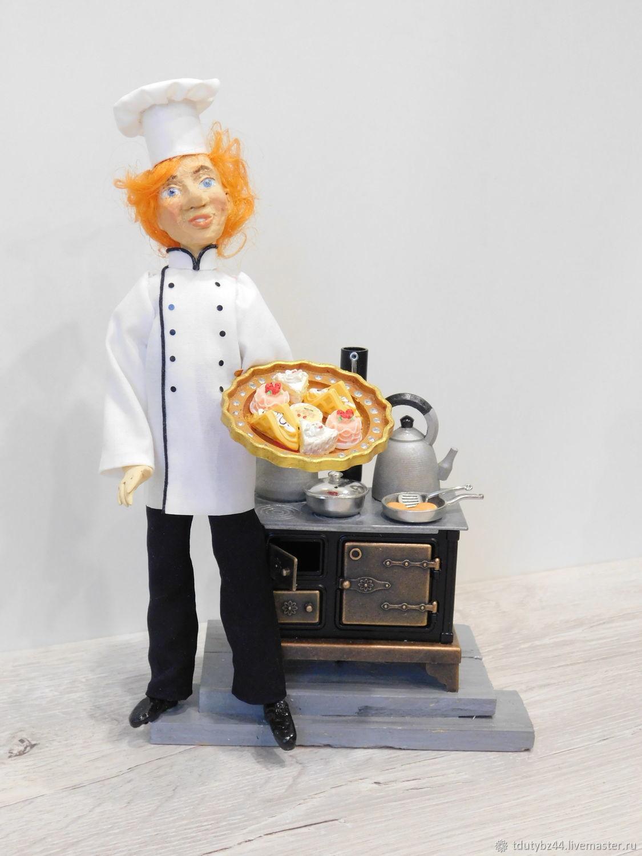 Интерьерная кукла ПОВАР КОНДИТЕР, Интерьерная кукла, Москва,  Фото №1