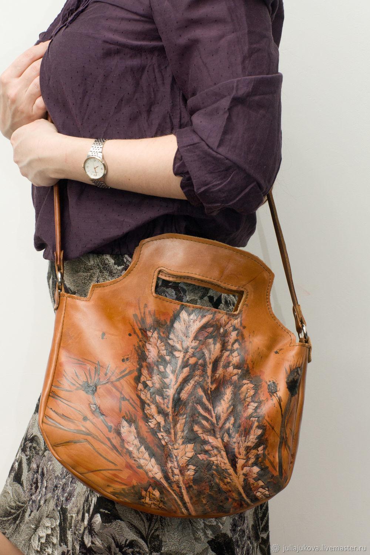 27f36480eeba Женские сумки ручной работы. Ярмарка Мастеров - ручная работа. Купить  Кожаная рыжая сумочка хэндмейд ...