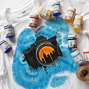 Сувениры и подарки handmade. Livemaster - original item Hand-painted t-shirts for the photographer. Handmade.