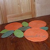 Для дома и интерьера ручной работы. Ярмарка Мастеров - ручная работа Коврик вязаный Любовь к трем апельсинам. Handmade.
