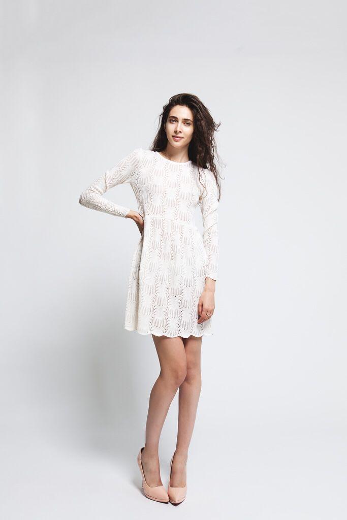 Платья ручной работы. Ярмарка Мастеров - ручная работа. Купить Кружевное платье. Handmade. Белый, коктельное платье