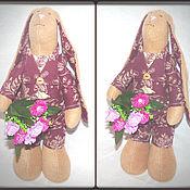 Куклы и игрушки ручной работы. Ярмарка Мастеров - ручная работа Зайки по мотивам Тильда (мальчик и девочка). Handmade.