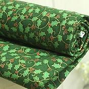Ткани ручной работы. Ярмарка Мастеров - ручная работа Завитки зеленый хлопок ткань. Handmade.