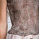 """Платья ручной работы. Валяное платье """" Simple Brown"""". Лена Баймут (Baymut). Ярмарка Мастеров. Пастельный, шоколад"""