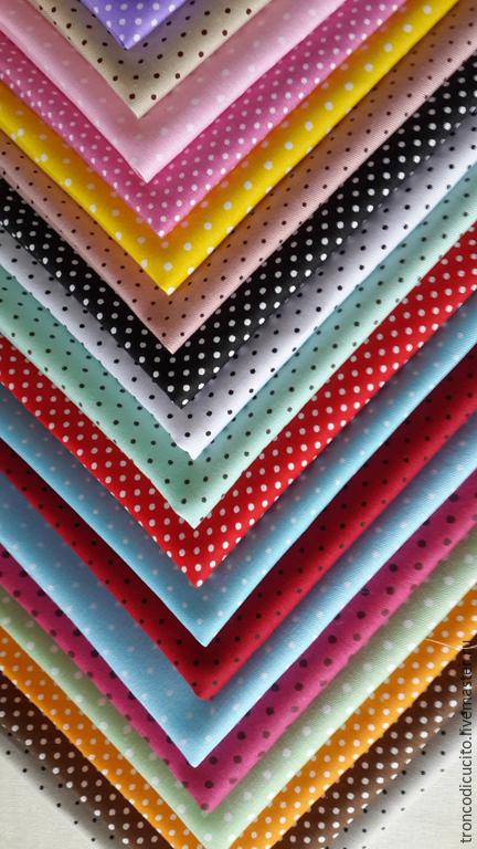 Шитье ручной работы. Ярмарка Мастеров - ручная работа. Купить Ткань в горошек ( пэчворк,тильда,тедди,скрапукинг и т.д).. Handmade.