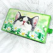 Канцелярские товары handmade. Livemaster - original item Pencil case-box Game in the daisies. Handmade.