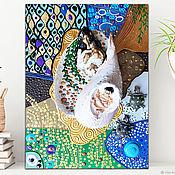 Картины и панно handmade. Livemaster - original item Sculpture painting Mother and kids Gustav Klimt. Mosaic art nouveau. Handmade.