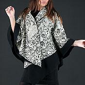 Одежда handmade. Livemaster - original item Spring, double-sided cashmere poncho - VE0125CA. Handmade.