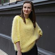 """Одежда ручной работы. Ярмарка Мастеров - ручная работа """"Yellow bird"""" Вязаный джемпер из ангоры AnnyBlatt. Handmade."""