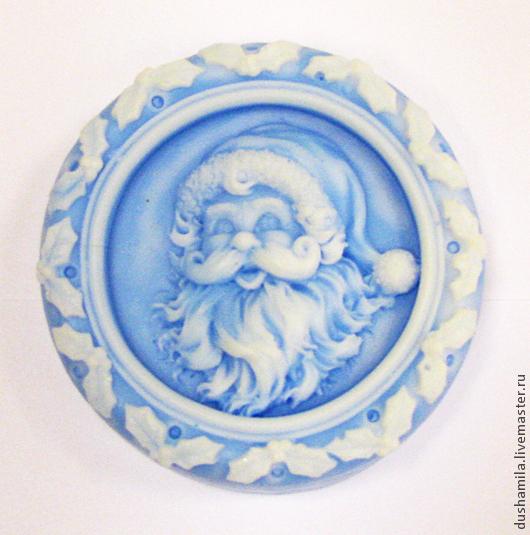 Мыло ручной работы. Ярмарка Мастеров - ручная работа. Купить Мыло Дед Мороз. Handmade. Синий, мыло в подарок