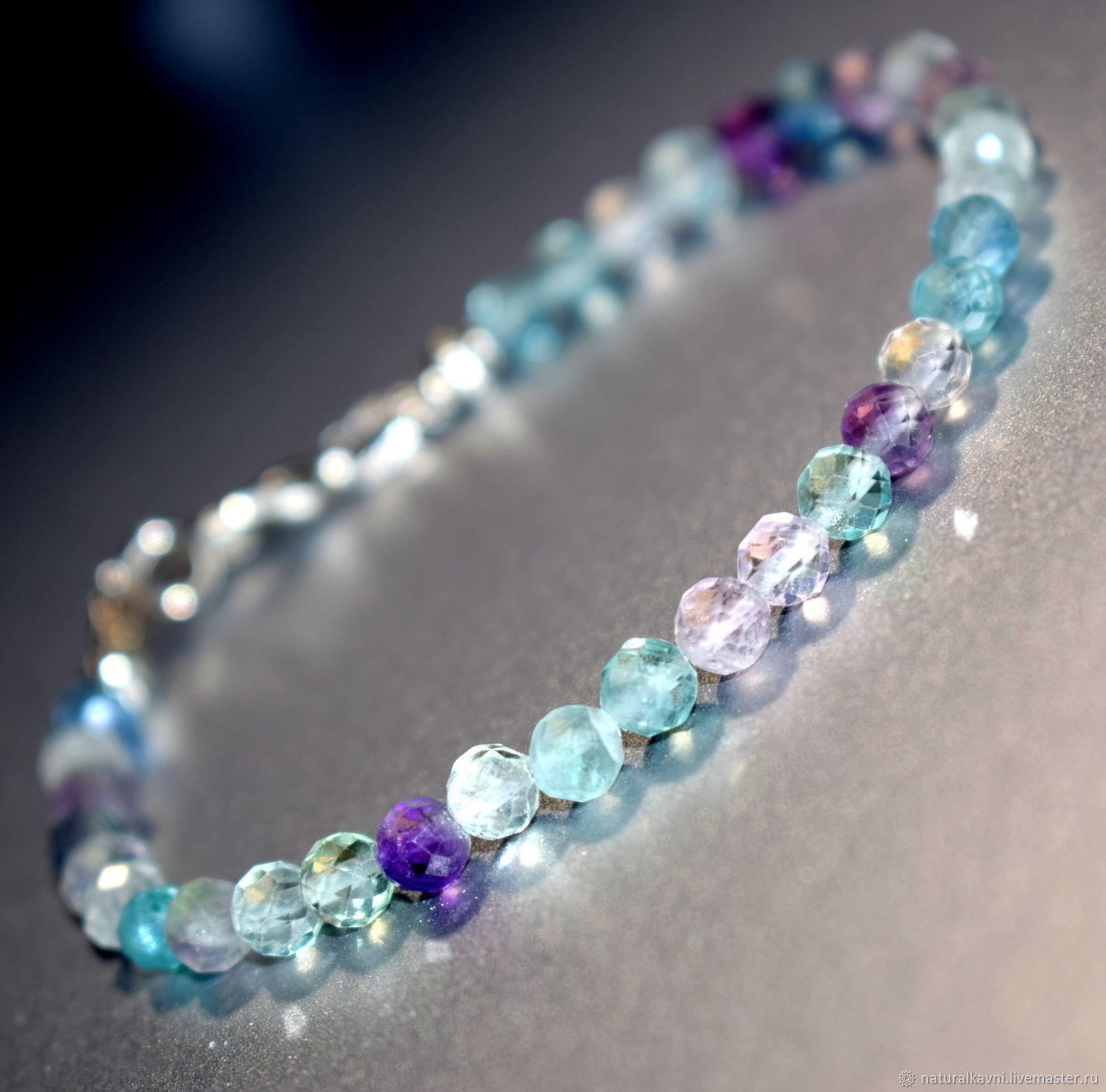 Delicate bracelet made of natural fluorite, Bead bracelet, Moscow,  Фото №1
