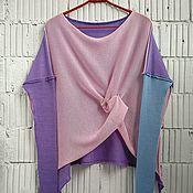Одежда ручной работы. Ярмарка Мастеров - ручная работа КН_003_КГА Блузон 3-хцветный. Handmade.