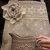 Для дома и интерьера ручной работы. Ярмарка Мастеров - ручная работа Фартук-передник льняной  для кухни Мечта хозяйки ( прованс, бохо). Handmade.