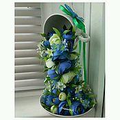 """Цветы и флористика ручной работы. Ярмарка Мастеров - ручная работа Парящая чашка """"Синяя камелия"""". Handmade."""